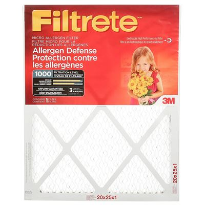 NEW Filtrete MPR 1000 20x25x1 Micro Allergen Defense Pleated