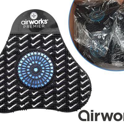 20c21a2b NEW AirWorks AWSP235 Premier Urinal Screen with Block, Midnight Sky, Black,  5