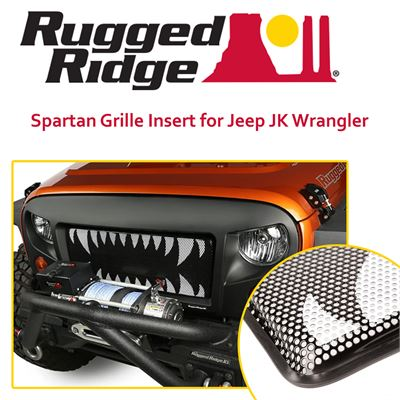 NEW Rugged Ridge 12034.24 Spartan Grille Insert for Jeep JK Wrangler (Monster Teeth)