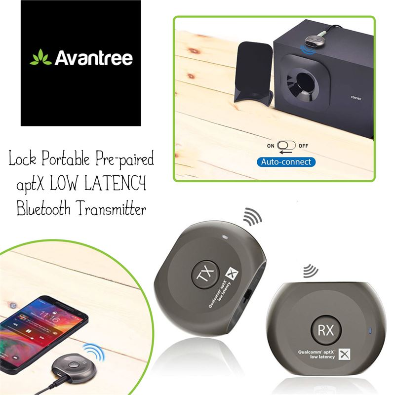 62f6bf3543f Clearance Depot - New Avantree Lock Portable Pre-paired aptX LOW LATENCY  Bluetooth Transmitter