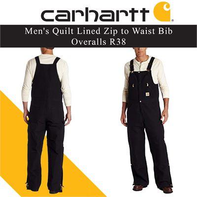 2c1e9523 NEW Carhartt Men's Quilt Lined Zip to Waist Bib Overalls R38