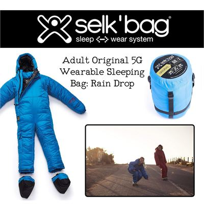 NEW Selk'bag Adult Original 5G Wearable Sleeping Bag: Rain Drop, X-Large
