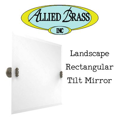 NEW Allied Brass SB-93-PEW Landscape Rectangular Tilt Mirror