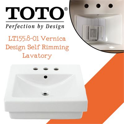 NEW Toto LT155.8-01 Vernica Design Self Rimming Lavatory