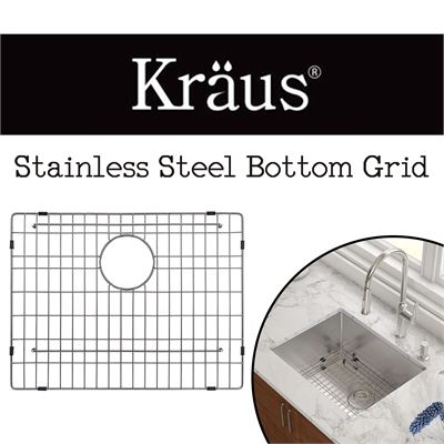 NEW  Kraus KBG-101-23 Stainless Steel Bottom Grid
