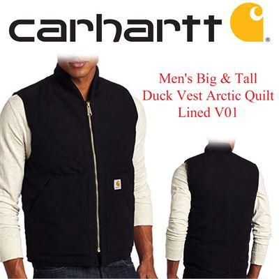 715084d994d3 NEW Carhartt Men's Big & Tall Duck Vest Arctic Quilt Lined V01