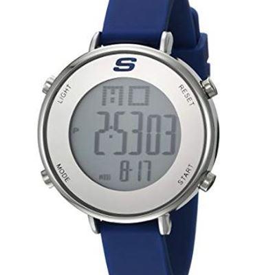d2e502734ca0 NEW Skechers Women s Magnolia Quartz Metal and Silicone Digital Watch  Color  Silver