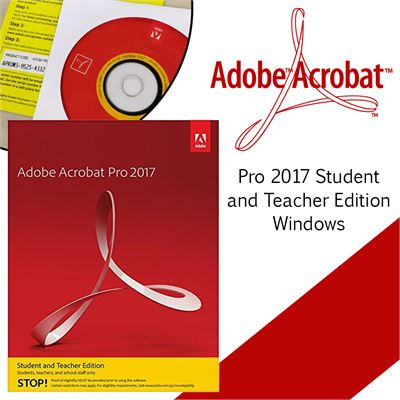 adobe acrobat pro 2017 student and teacher edition