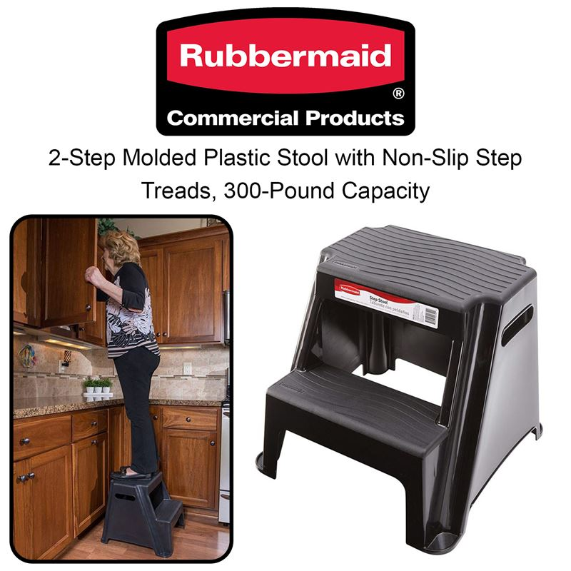 Super Clearance Depot New Rubbermaid Rm P2 2 Step Molded Plastic Dailytribune Chair Design For Home Dailytribuneorg