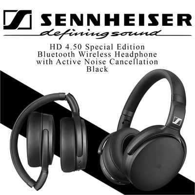 NEW Sennheiser HD 4.50 Special Edition, Bluetooth Wireless Headphone with Active Noise Cancellation, Black
