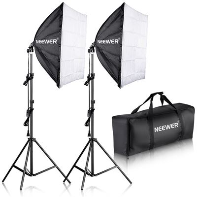 "NEW Neewer 700W Professional Photography 24""x24""/60x60cm Softbox with E27 Socket Light Lighting Kit for Photo Studio Portraits,Product Photography"