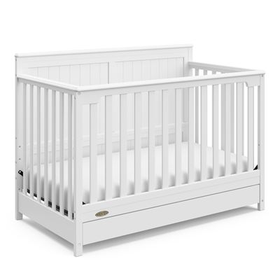 NEW Graco Hadley 4-in-1 Convertible Crib with Drawer White