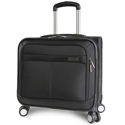 NEW Perry Ellis Wheeled Spinning Laptop Computer Business Hardshell Briefcase, Black