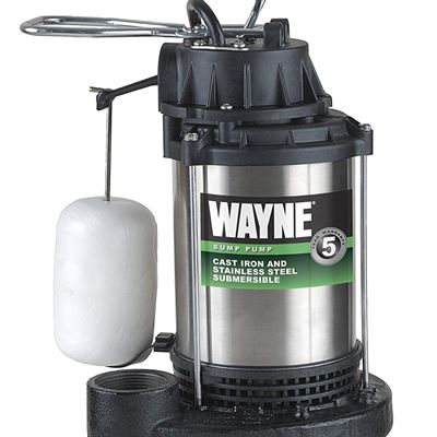 NEW Wayne CDU980E 3/4 HP Submersible Cast Iron and Stainless Steel Sump Pump with Integrated Vertical Float Switch