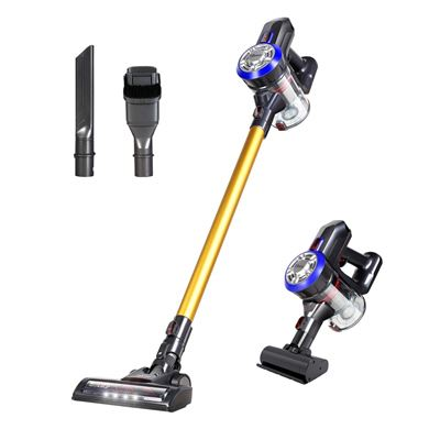 USED Dibea D18 Lightweight Cordless Stick Vacuum Cleaner, 9000pa Powerful Suction Bagless Rechargeable 2 in 1 Handheld Car Vacuum Gold