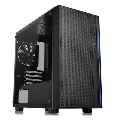 NEW Thermaltake Versa H18 Tempered Glass Black SPCC Micro ATX Gaming Computer Case