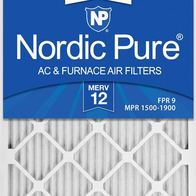 NEW Nordic Pure 16x25x1 MERV 12 Pleated AC Furnace Air Filter, Box of 6