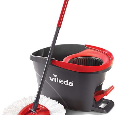 NEW Vileda EasyWring Microfibre Spin Mop & Bucket Floor Cleaning System