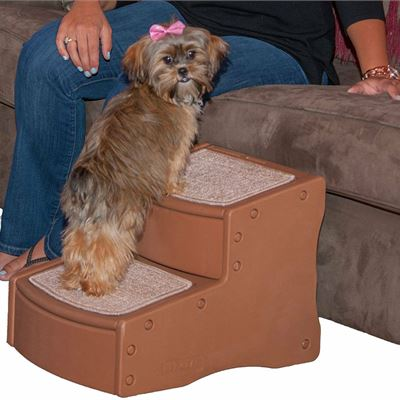 NEW Pet Gear Easy Step II Pet Stairs, 2-step/for Cats and Dogs up to 75-pounds