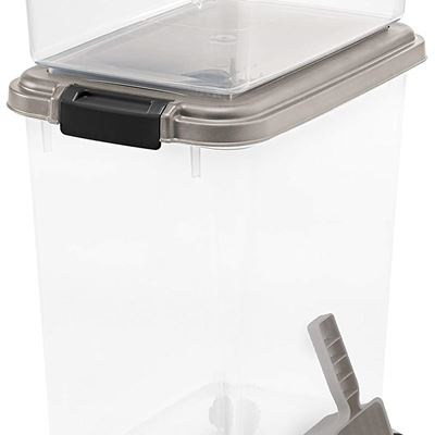 NEW 3- Piece Airtight Pet Food Storage Container Combo, Chrome