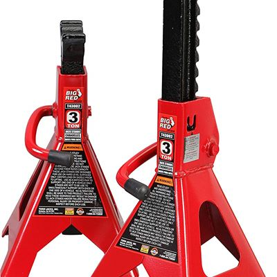NEW Torin Big Red Steel Jack Stands: 3 Ton Capacity, 1 Pair