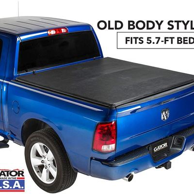 NEW Gator ETX Soft Tri-Fold Truck Bed Tonneau Cover | 59201 | fits Dodge Ram 2009-18, 2019 Classic 1500 (5 ft 7 in bed)