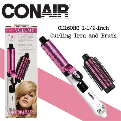 NEW Conair CD160RC 1-1/2-Inch Curling Iron and Brush