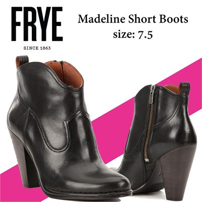 NEW Women Frye Madeline Short Boots, size: 7.5