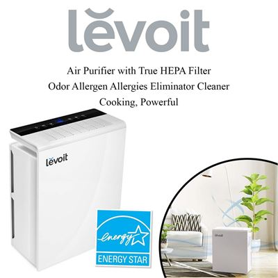 NEW Levoit Air Purifier with True HEPA Filter, Odor Allergen Allergies Eliminator Cleaner, Cooking, Powerful for Large Room, 322 sq. ft, LV-PUR131