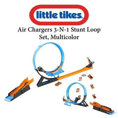 NEW Little Tikes Air Chargers 3-N-1 Stunt Loop Set, Multicolor