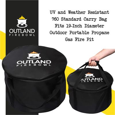NEW Outland Firebowl UV and Weather Resistant 760 Standard Carry Bag, Fits 19-Inch Diameter Outdoor Portable Propane Gas Fire Pit