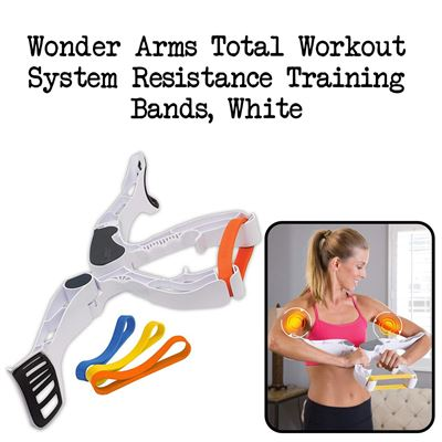 NEW Wonder Arms Total Workout System Resistance Training Bands, White