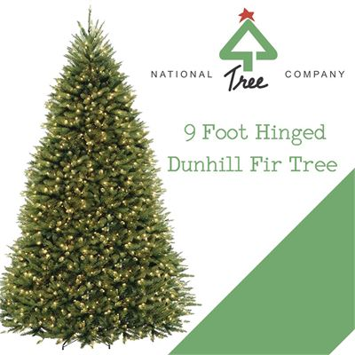 NEW National Tree 9 Foot Hinged Dunhill Fir Tree with 900 Clear Lights