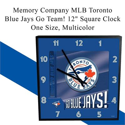 "Memory Company MLB Toronto Blue Jays Go Team! 12"" Square Clock, One Size, Multicolor"
