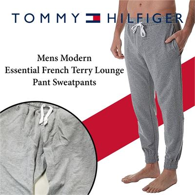 NEW Tommy Hilfiger Mens Modern Essential French Terry Lounge Pant Sweatpants