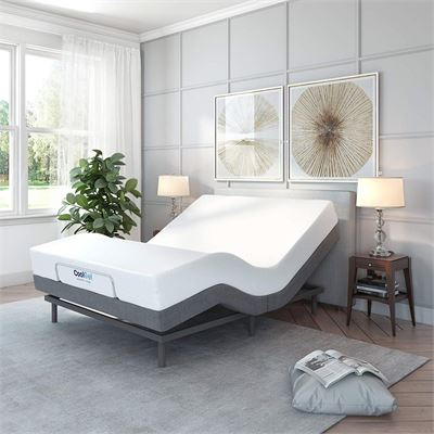 NEW Classic Brands Adjustable Comfort Adjustable Bed Base with Massage, Wireless Remote and USB Ports, Full