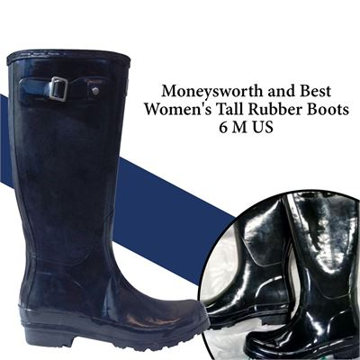NEW Moneysworth and Best Women's Tall Rubber Boots  6 M US