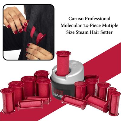 NEW Caruso Professional Molecular 14-Piece Mutiple Size Steam Hair Setter