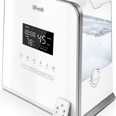 USED Levoit Cool and Warm Mist Humidifier, 5.5L Ultrasonic Humidifiers with Remote Control, Large LED display,Dual 360� Nozzles.