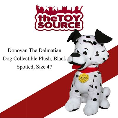 NEW ToySource 8-159 Donovan The Dalmatian Dog Collectible Plush, Black Spotted, Size 47