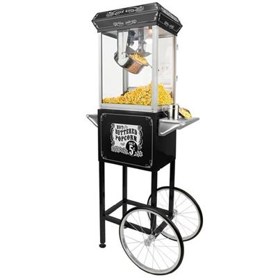 NEW Funtime Sideshow Popper 8-Ounce Hot Oil Popcorn Machine, Black/Silver