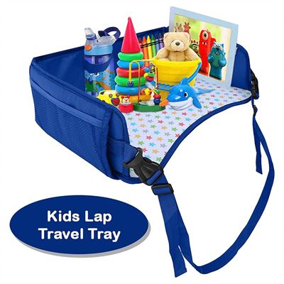NEW Snack & Play Lap Tray For Kids. Great for Playing, Eating, Reading & Drawing on the go. Mesh Storage Pockets for Organizing Toys