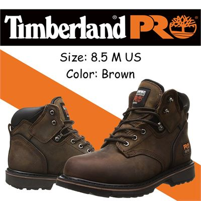 "NEW Timberland PRO Men's 6"" Pit Boss Steel-Toe, 8.5 M US, Brown"