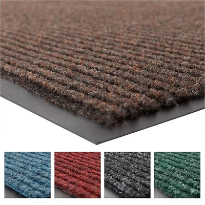 "NEW NoTrax 109 Brush Step Entrance Mat, for Lobbies and Indoor Entranceways, 3' Width x 5' Length x 3/8"" Thickness, Brown"