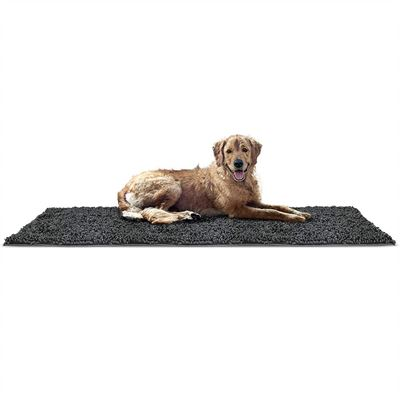 NEW FurHaven Pet Dog Mat | Muddy Paws Towel & Shammy Rug, Charcoal (Gray), Runner