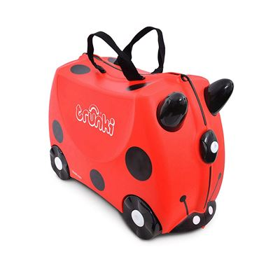 NEW Trunki The Original Ride-On Suitcase New, Harley Ladybird (Red)
