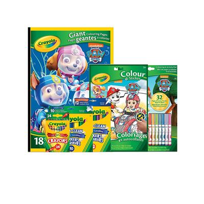 NEW Crayola Paw Patrol Colour & Draw Art Pack, 49 Pieces, School and Craft Supplies Gift for Boys & Girls Kids Ages 5 and Up Arts and Crafts, Gifting