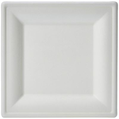 NEW AmazonBasics Compostable Square Plate, 6-Inches, 500-Count