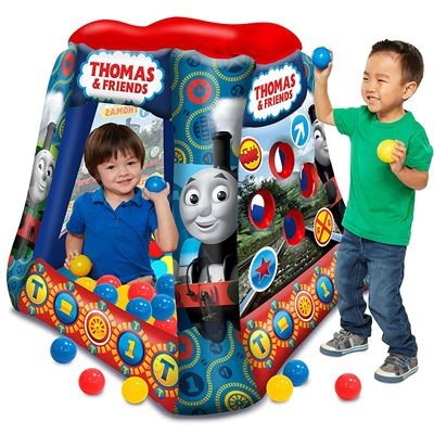 "NEW Thomas & Friends Ball Pit, 1 Inflatable & 20 Sof-Flex Balls, Blue/Red, 37"" W x 37"" D x 34"" H"