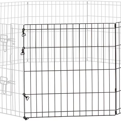 New Midwest Homes for Pets 550-24ADD Universal Pet Playpen 2-Panel Extension Kit | Fits Metal 24-Inch Dog Pens, Black